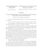 quy định phân cấp quản lý tài sản nhà nước tại cơ quan, tổ chức, đơn vị thuộc phạm vi quản lý của tỉnh Đồng Tháp
