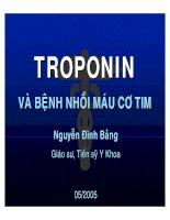 Troponin và bệnh nhồi máu cơ tim
