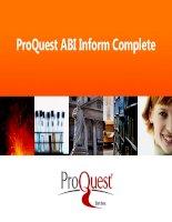 ProQuest ABI Inform Complete - UEHCM
