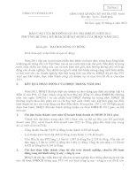 Báo cáo hoạt động của hội đồng quản trị 2011 của công ty cổ phần PVI