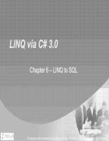 Chapter 6 - LINQ to SQL