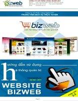Hướng dẫn sử dụng hệ thống quản trị website Bizweb
