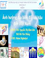 Ảnh hưởng của biến đổi khí hậu đến Việt Nam