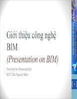 Giới thiệu công nghệ BIM