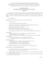 Biên bản họp hội đồng cổ đông 2012 công ty cổ phần kinh doanh thủy hải sản sài gòn