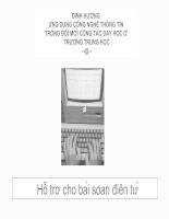 Ứng dụng công nghệ thông tin trong giảng dạy ở trường trung học