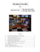 Kỹ năng trích dẫn và lập danh mục tài liệu trích dẫn, tài liệu tham khảo