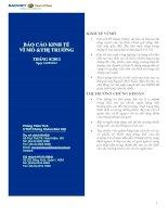 Báo cáo kinh tế vĩ mô và thị trường