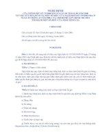 Quy định chi tiết thi hành 1 số điều của pháp lệnh giá