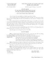 Quyết định Về việc thành lập Hội đồng thanh lý tài sản máy tính, bàn ghế của Phòng lao động thương binh và xã hội