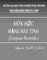 Bài giảng môn học mạng máy tính