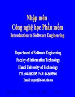 Nhập môn công nghệ phần mềm