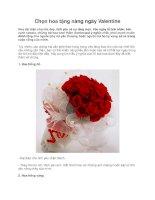 Chọn hoa tặng nàng ngày Valentine