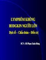 Lymphôm không hodgkin người lớn Dịch tễ - chuẩn đoán - điều trị