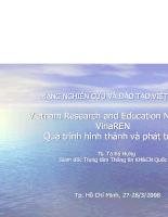 Quá trình hình thành và phát triển mạng nghiên cứu và đào tạo Việt nam
