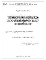Thiết kế sách giáo khoa điện tử (E-book) chương `Lý thuyết về phản ứng hóa học` lớp 10 chuyên hóa học