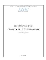Hồ sơ năng lực công ty truyền thông DTC