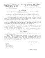 Kỷ luật những học sinh sinh viên vi phạm quy chế công tác HSSV