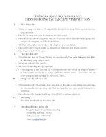 Tuyển cán bộ tin học bán chuyên cho nhóm công tác tài chính vi mô Việt nam