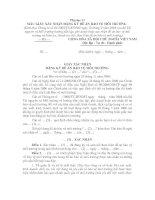Mẫu giấy xác nhận đăng kí đề án bảo vệ môi trường