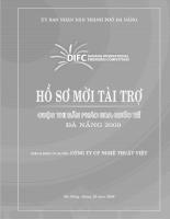 Hồ sơ mời tài trợ: Cuộc thi bắn pháo hoa quốc tế Đà Nẵng 2009