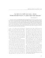 Vai trò của triết học Mac - Lênin trong đổi mới tư duy lý luận ở Việt Nam hiện nay