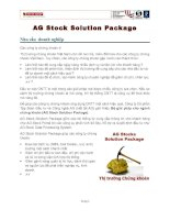 AG Stock Solution Package Nhu cầu  doanh nghiệp