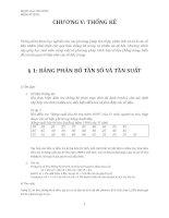Bảng phân bố và tần suất