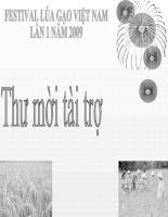 Thư mời tài trợ Festival  lúa gạo việt nam