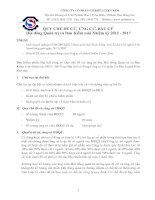 Quy chế đề cử, ứng cử, bầu cư, hội đồng quản trị và ban kiểm soát nhiệm kỳ 2012 - 2017