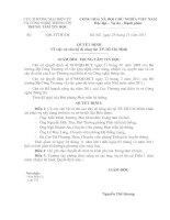 Quyết định Về việc cử cán bộ đi công tác TP. Hồ Chí Minh