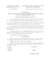 Quyết định Ban hành Quy chế tổ chức, quản lý, hoạt động của trang thông tin điện tử Sở Kế hoạch và Đầu tư tỉnh Bắc Giang