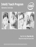 Chương trình Intel Teach Elements