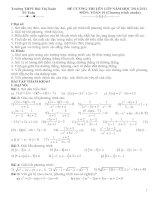 Đề cương ôn tập môn toán 10