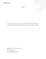 Gia tăng áp lực để hoạt động marketing hiệu quả trong thời kì kinh tế khó khăn