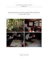 Kế hoạch quản lý rừng cộng đồng buôn TUL