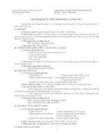 Kế hoạch tuyển sinh đại học ngoại thương