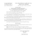 Quyết định Ban hành Quy chế quản lý, khai thác và bảo vệ mạng máy tính của UBND huyện đức trọng