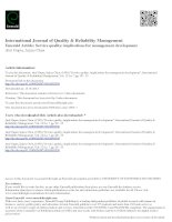Service quality: implications for management development