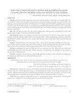 Kiến thức thực hành về phòng ngừa nhiễm giun kim của phụ huynh trẻ mẫu giáo tại huyện củ chi