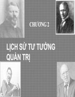 Bài giảng lịch sử tư tưởng quản trị