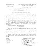 Quyết định ban hành quy chế công tác lưu trữ của ủy ban dân tộc