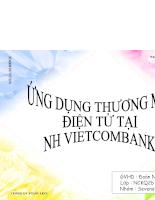 Ứng dụng thương mại điện tử tại ngân hàng vietcombank