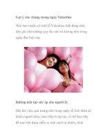 Gợi ý cho chàng trong ngày Valentine