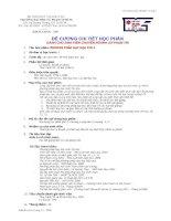 Đề cương chi tiết học phần phương pháp dạy học tin 1