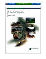 Dự án thủy điện trung sơn- Kế hoạch quản lí môi trường
