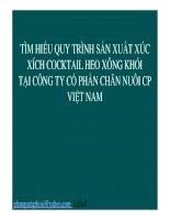 Tìm hiểu quy trình sản xuất xúc xích cocktail heo xông khói tại Công ty Cổ phần Chăn nuôi cổ phần Việt Nam