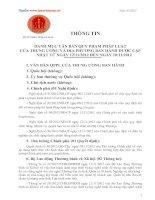 Danh mục văn bản quy phạm pháp luật