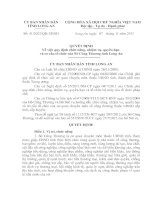 Quyết định Về việc quy định chức năng, nhiệm vụ, quyền hạn  và cơ cấu tổ chức của Sở công thương tỉnh long an (2)