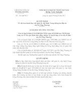Quyết định Về việc ban hành Quy chế quản lý, vận hành Trang thông tin điện tử của sở công thương